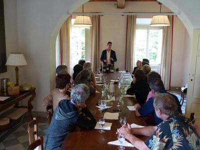 Wine tasting in the dining room