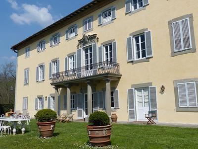 Lawn side of main villa